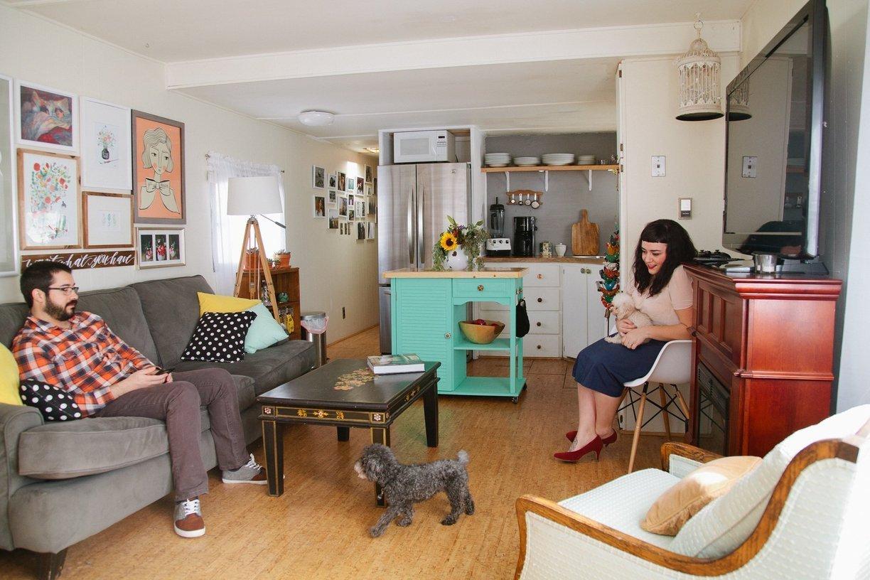 mobile home decor-modern- vintage decor in mobile home