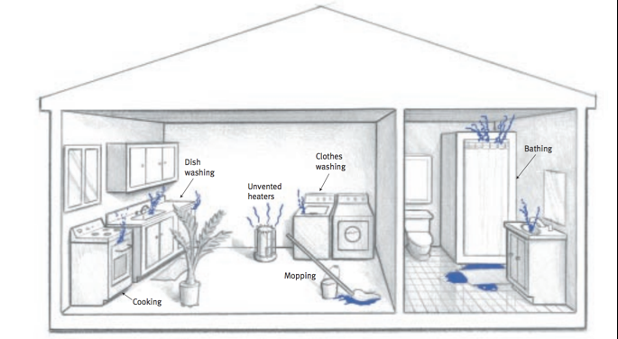 moisture problems in manufactured homes - moisture production from everyday activities