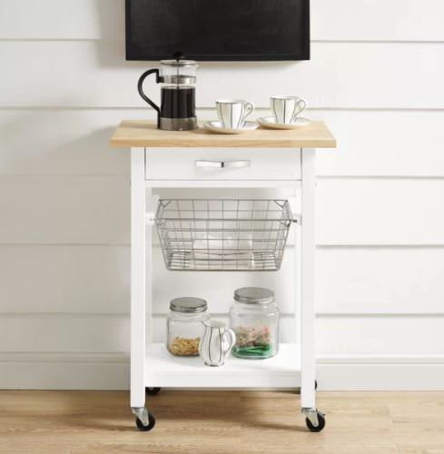 Smart multi-function furniture that's perfect for a small mobile home-cart