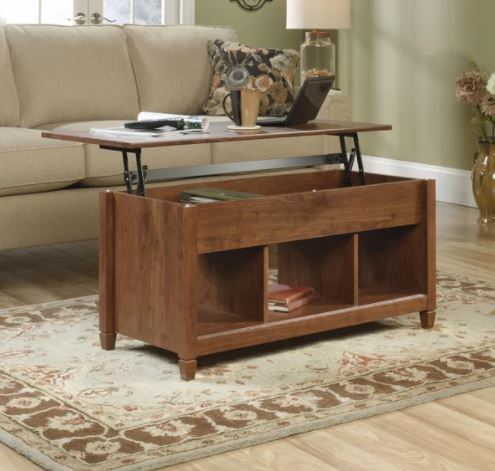 Smart multi-function furniture that's perfect for a small mobile home-convertible coffee table