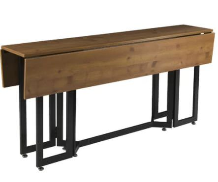 Smart multi-function furniture that's perfect for a small mobile home-expandable dining table