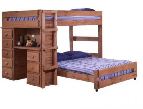 Smart multi-function furniture that's perfect for a small mobile home-wood bunk beds