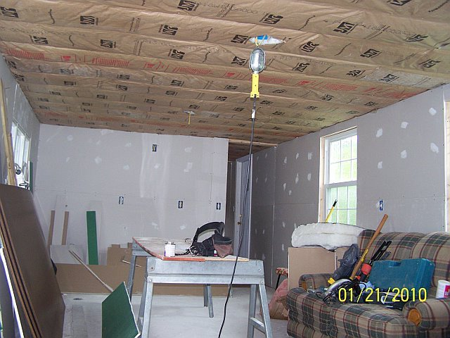 new insulation in mobile home ceiling during remodel