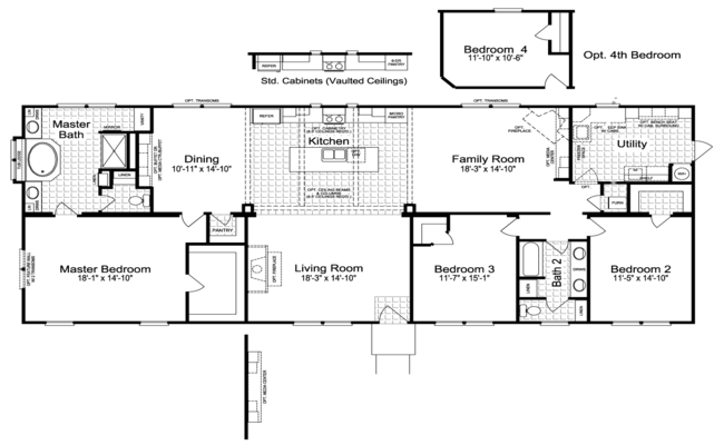 new mobile home design- the sonora II floor plan