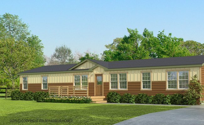 new mobile home design- the sonora II optional exterior