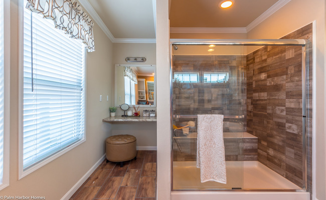 new mobile home design- Sonora II shower and vanity