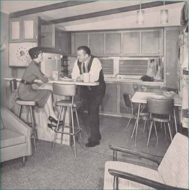 new moon mobile home kitchen design 1960 - Mobile Home Kitchen Designs