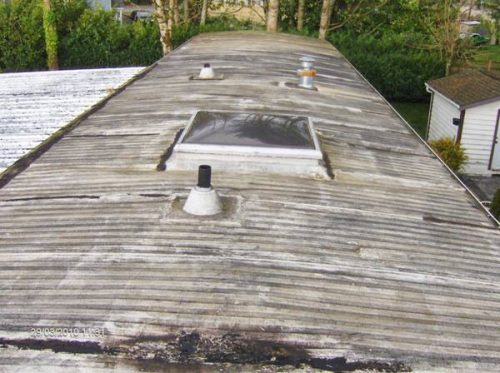 Old Metal Roof Before Mobile Home Roof Over