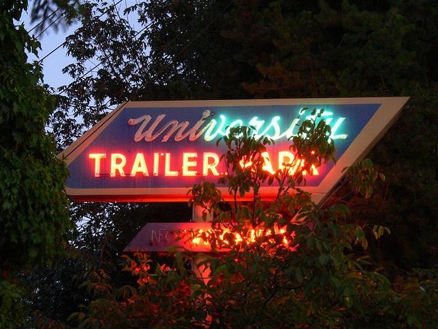 trailer parks-old trailer park sign