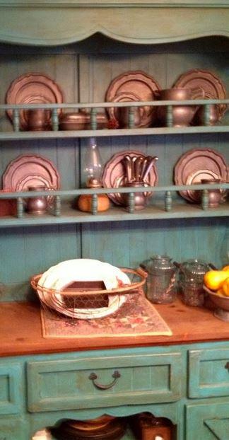 old world hutch - kitchen remodel