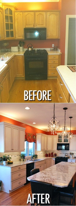 Mobile Home Al Orange Paint Kitchen Makeover