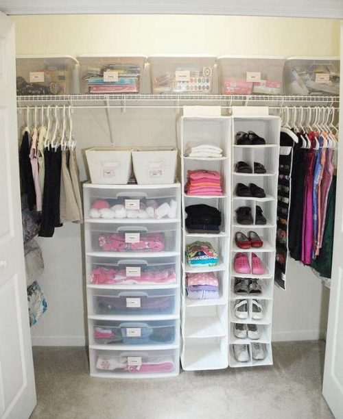 inexpensive ways to organize your manufactured home-closet organization