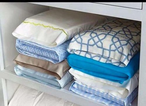 inexpensive ways to organize your manufactured home - how to store sheet sets