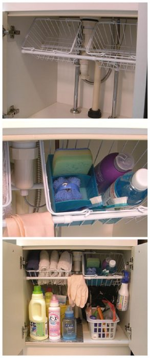 organize your manufactured home-under sink storage