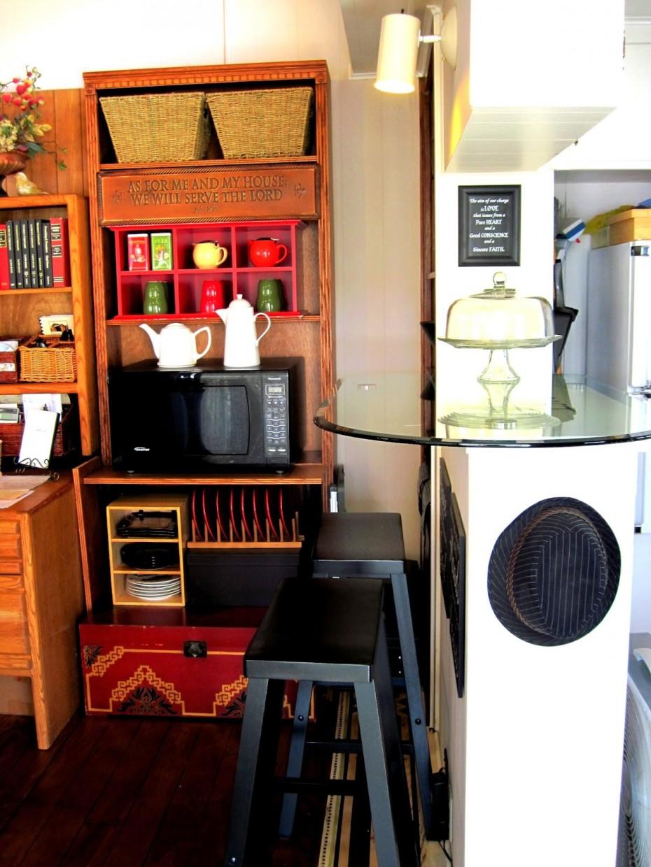 kitchen makeover in vintage mobile home