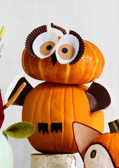 Diy Fall Decor Part - 43: Owl Pumpkin Decor - DIY Fall Decorating Ideas