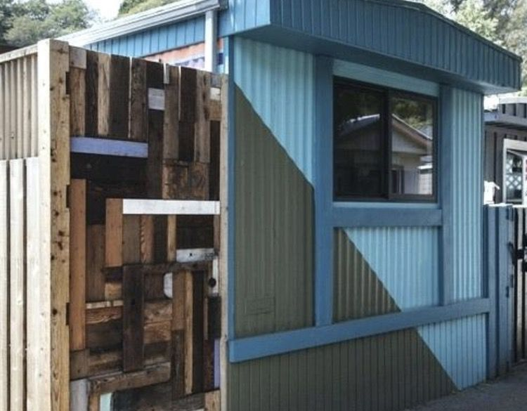 painting metal siding on a mobile home - CA Park OPT