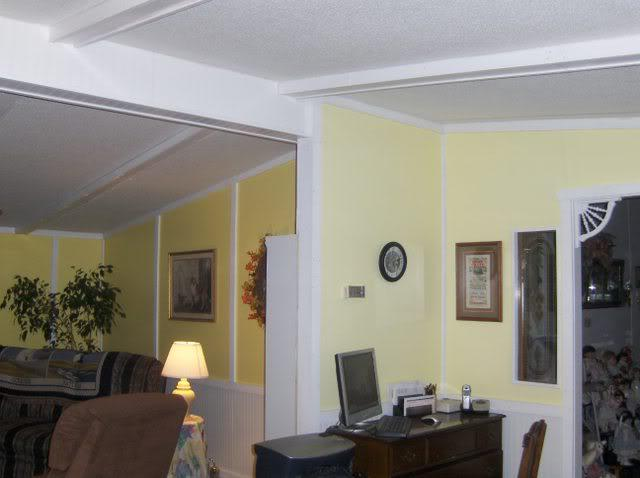 vinyl walls in mobile homes-painting mobile home walls and using new trim to cover the seams