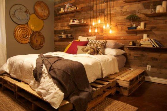 pallet bedroom project
