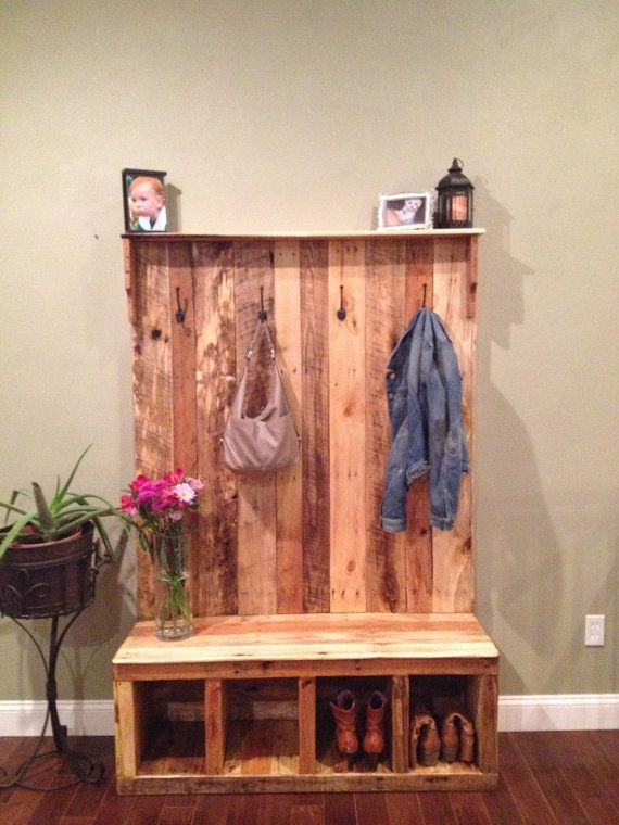Pallet Bench And Closet Project