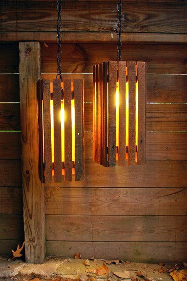 pallet chandelier project
