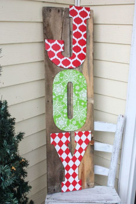 pallet project ideas-christmas