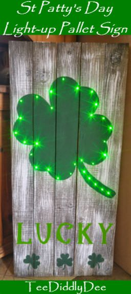 pallet project ideas-st patricks day