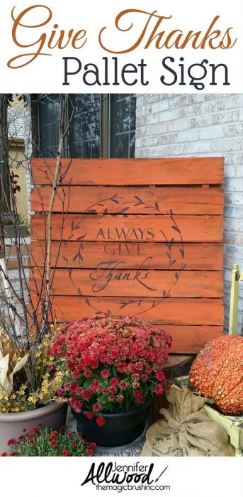 pallet project ideas-thanksgiving