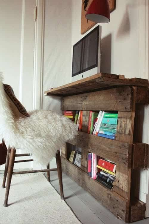 Pallet projects-compact desk