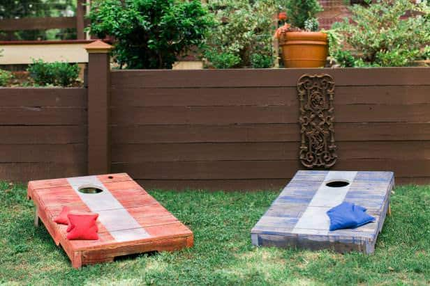 Pallet projects-cornhole boards