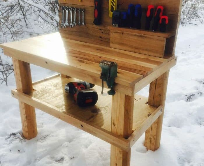 Pallet projects-kids tool bench