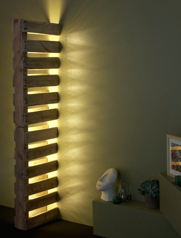 pallet wall light project