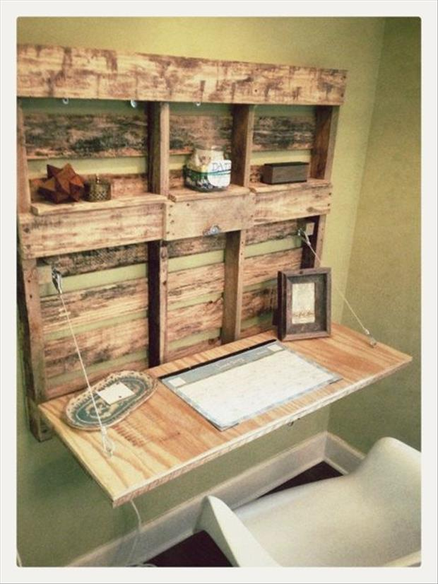 This little wall office is perfect way to have a desk in a small area.