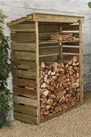 pallet woodshed project
