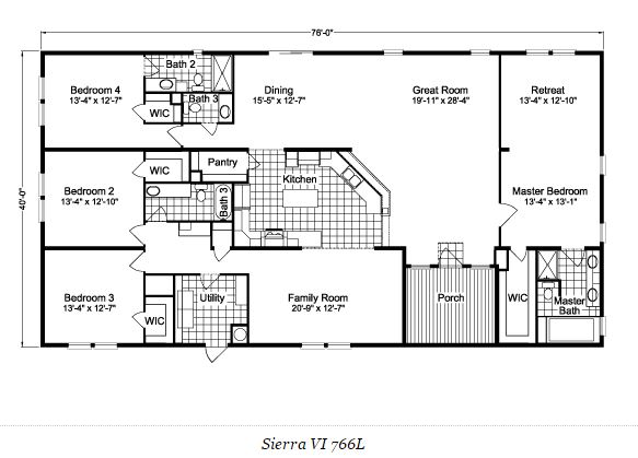 manufactured home floor plans-palm harbor home double wide floor pla sierra