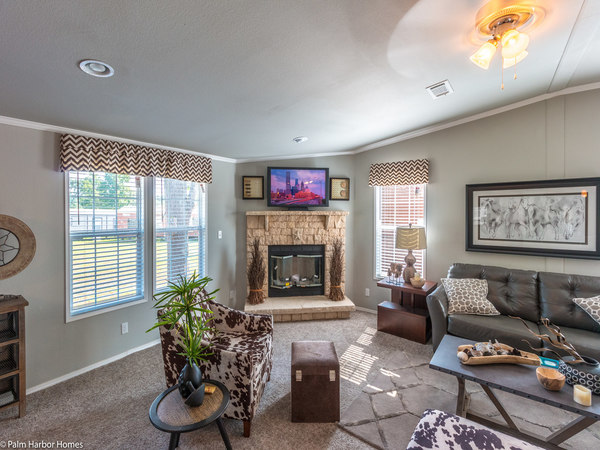 palm harbor manufactured home design-fireplace in den