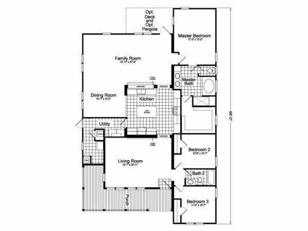 Palm harbor manufactured home design-floor plan