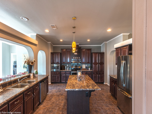 palm harbor manufactured home design-kitchen island