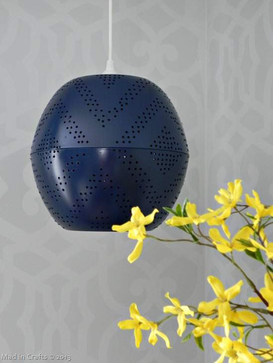 perforated globe DIY light