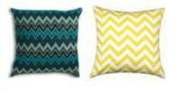 pillows in affordable living room makeover