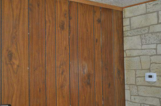 wood paneling in mobile homes - pams DIY project