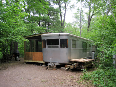porch added to 1955 Spartan