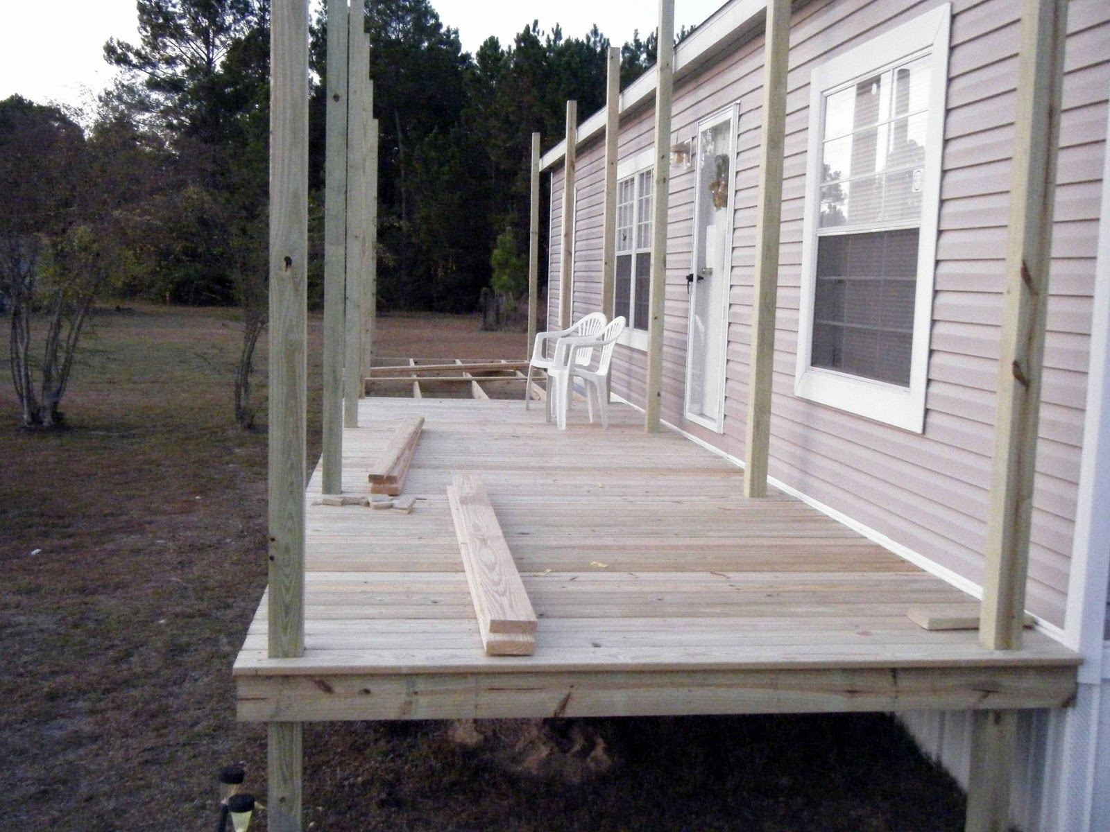 Porch Being Built On Double Wide   Belindajowrites Com