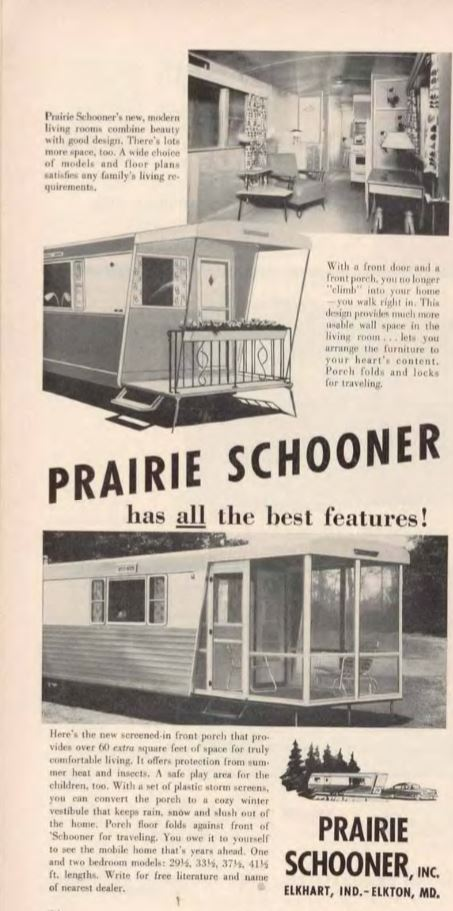 vintage mobile homes-prairie schooner mobile home 54