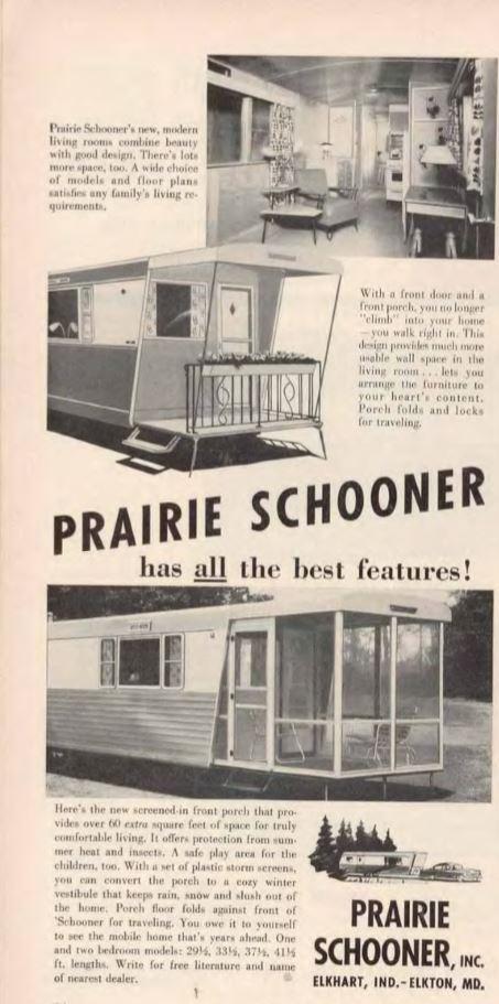 vintage mobile homes-prairie schooner mobile home 54