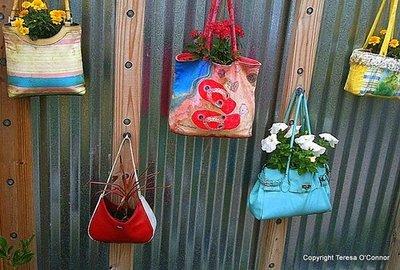 purses as planters