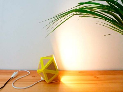recycled-cardboard-origami-lamp-diy