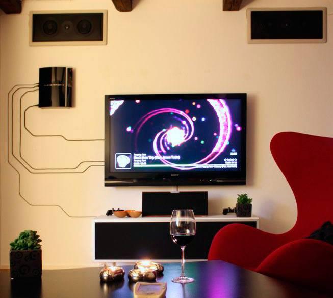 living room media center idea