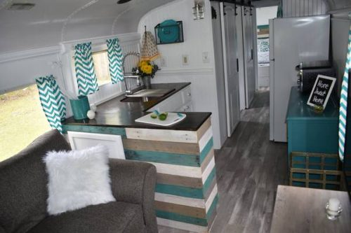 Remodeled bus-kitchen