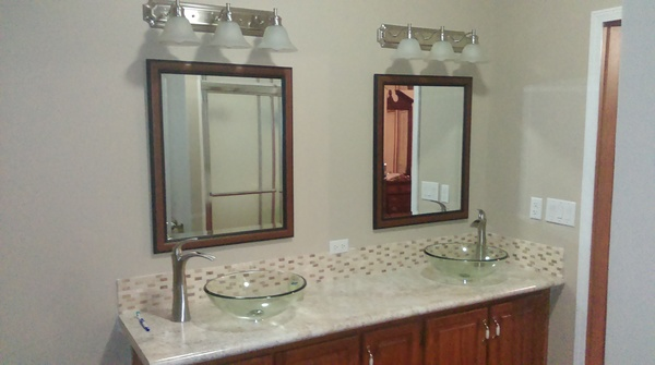 Remodeling The Master Bathroom Without Breaking The Bank Mobile - Replace bathroom vanity mobile home